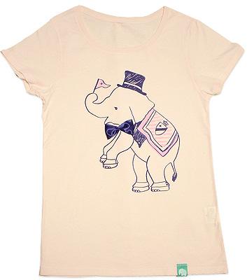 ぞうのピンクTシャツ